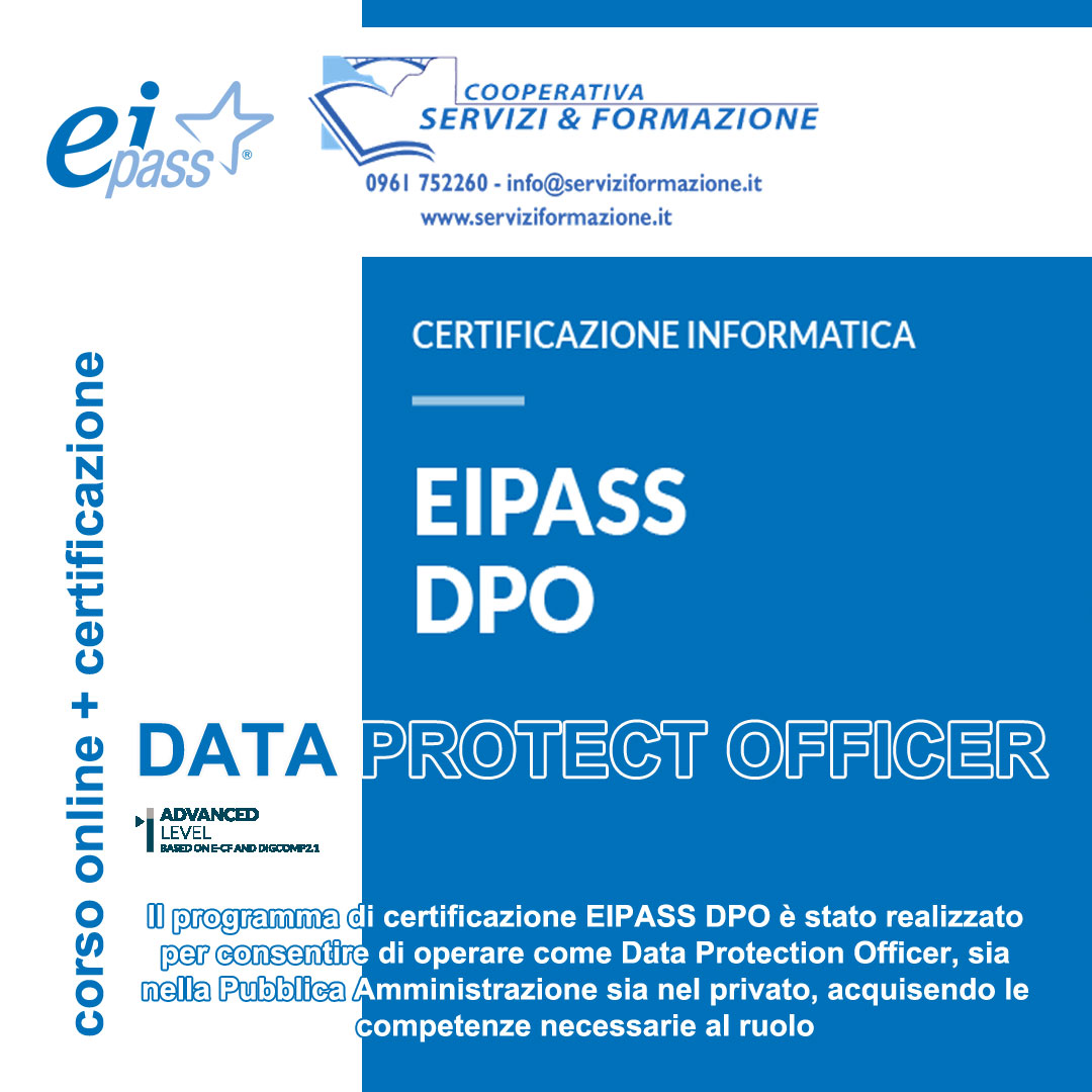 EIPASS DPO (Data Protection Officer) | Corso online + Certificazione