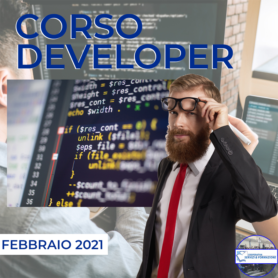 Corso Gratuito Tecnico della Programmazione e dello Sviluppo di Programmi Informatici (Developer) – Nuovo Corso MARZO 2021